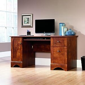 Amazon Com Sauder Computer Desk Brushed Maple Finish
