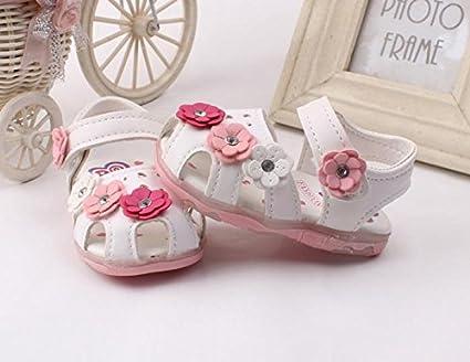 ❤️ Manadlian Sandalias para ni/ñas Iluminado Zapatos Princesa peque/ñas con flores zapatos de beb/é con suela suave Reci/én nacido calzado Zapatos de vestir Sandalias Ni/ñas