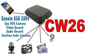 Cámara micro espía GSM X009 audio y vídeo, interceptación ambiental Cimice Spy Cam CW26: Amazon.es: Bricolaje y herramientas