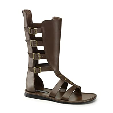 25a8ed1b605db Funtasma MENS SIZING Gladiator Costume Boots Open Toe Sandal Style Shoes  Size  Small