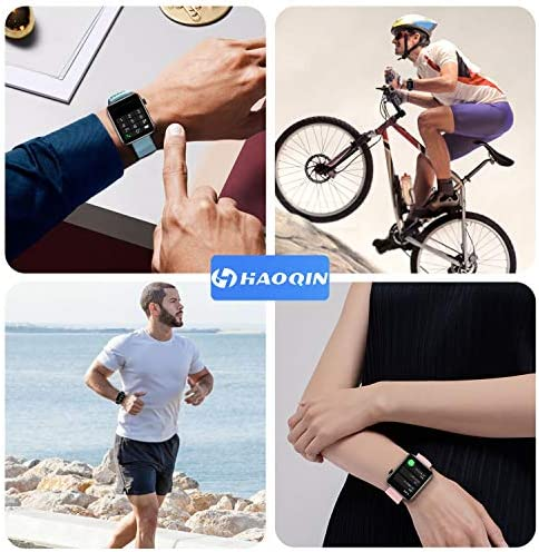 Smart Watch IP67 Sports Waterproof-HAOQIN QS1 HaoWatch Full Touch Smart Watch 1.54″ Screen Fitness Tracker with Heart Rate Sleep Monitor for Men and Women Smart Watches Bluetooth 4.0 Android iOS Pink 51okfu4gf0L