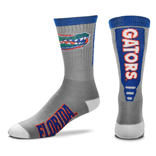 Feet For Florida Bare Socks (For Bare Feet NCAA Mens Cool Gray Jump Key Crew Socks-Florida Gators-Large(10-13))