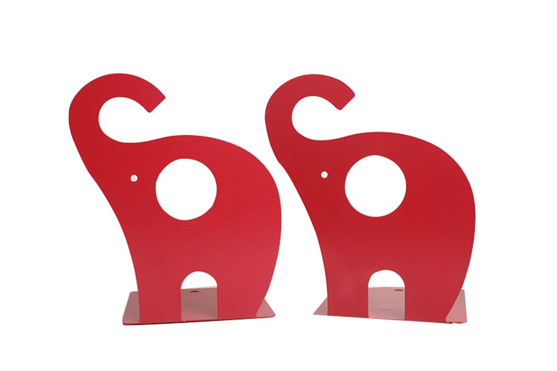 Cute Cartoon Elephant Shape Nonskid Metal Bookends for Kids Gift Decoration(Blue) Winterworm