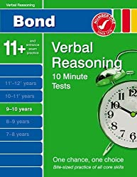 Bond 10 Minute Tests Verbal Reasoning 9-10 years