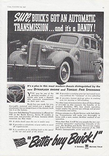 Sedan Automatic Transmission - Sure Buick's got an automatic transmission Buick Sedan ad 1938 T