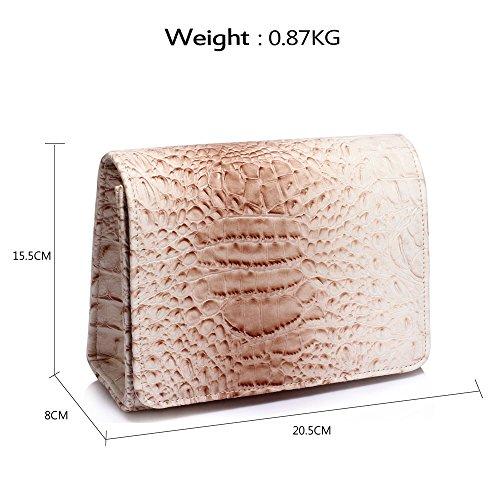 Ladies New Handbag Women Animal Designer Size Clutch Pattern Crocodile Design 1 Style Large Purse Bag Nude Print 4xqwvWBP