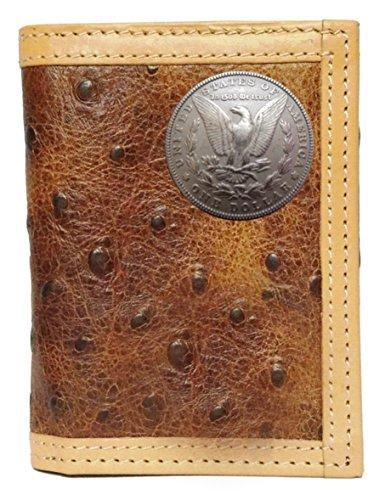 Print Tails wallet trifold Ostrich Custom Morgan Dollar Custom Morgan Sx6nwYH