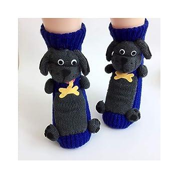 KVEYY Calcetines Térmicos Caseros Antideslizantes De Dibujos Animados Lindos para Mujer Calcetines Gruesos para Adultos Líneas