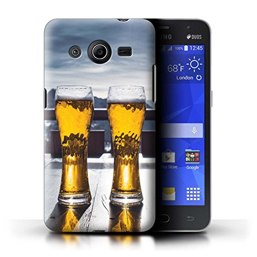 Freeride Core Skis (STUFF4 Phone Case / Cover for Samsung Galaxy Core 2 / Ski Lodge/Beer Design / Skiing/Snowboarding Collection)