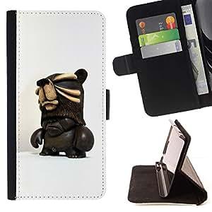 Momo Phone Case / Flip Funda de Cuero Case Cover - 3D Figurine Chocolate Dark Man - LG OPTIMUS L90