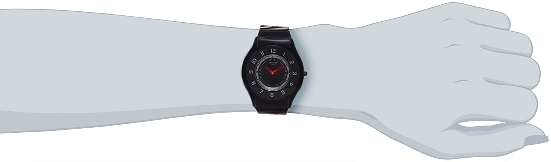 Quarz Damen Textil Sff120 Poncho Analog Swatch Armbanduhr c4q35ASRjL