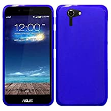 HR Wireless Frosted TPU Cover for Asus Padfone X - Retail Packaging - Blue