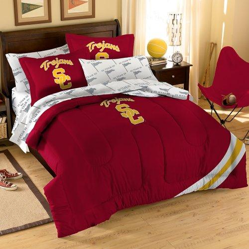 NCAA USC Trojans Bedding Set, Full