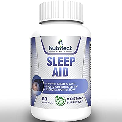 100% ALL NATURAL Sleeping Pills Supplement EXTRA STRENGTH-Great Sleep Aid For Women, Children and Adults