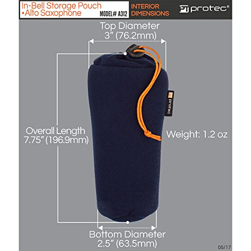 Alto Saxophone In-Bell Storage Pouch by Protec (Model# A312) by Pro Tec (Image #5)