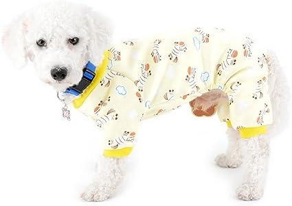 Zunea Ropa interior para cachorros con forro polar y cebra, para perros pequeños, pijamas de invierno, para perritos de Yorkie Dachshund Chihuahua, ...