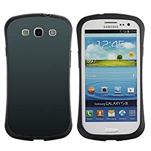 TopCaseStore Hybrid Rubber Case Hard Cover Protection Skin for SAMSUNG GALAXY S3 & I9300 - Simple Gray 3