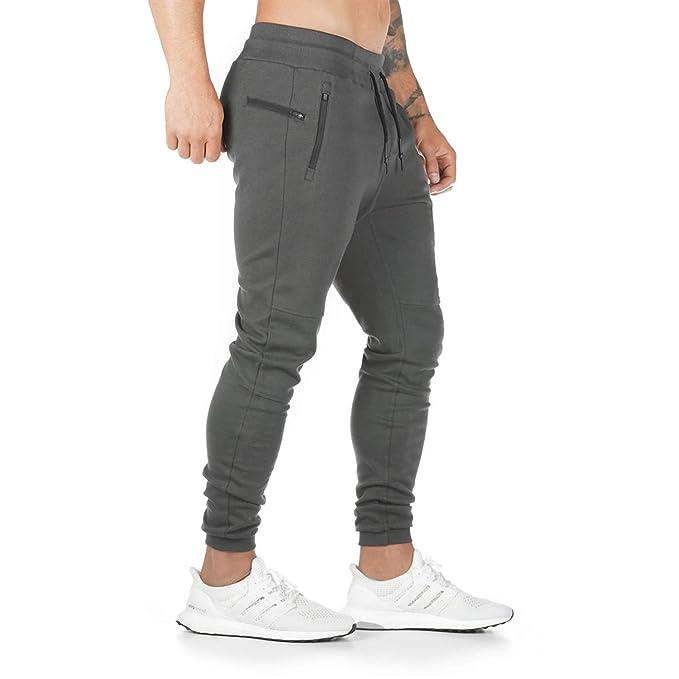 zu Füßen bei seriöse Seite große Auswahl CakCton Herren Jogginghose Sporthose Baumwolle Fitness Slim Fit Hose  Freizeithose Joggers Streetwear