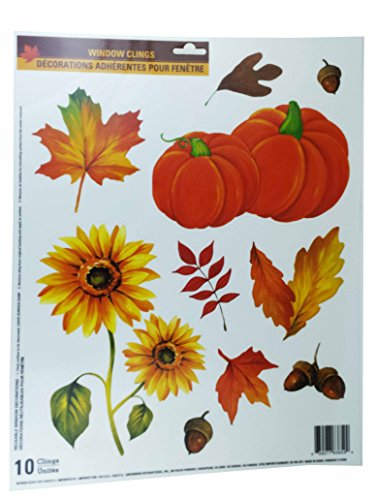 Fall Harvest Window Clings (Pumkins ~ Flowers ~ Acorns)