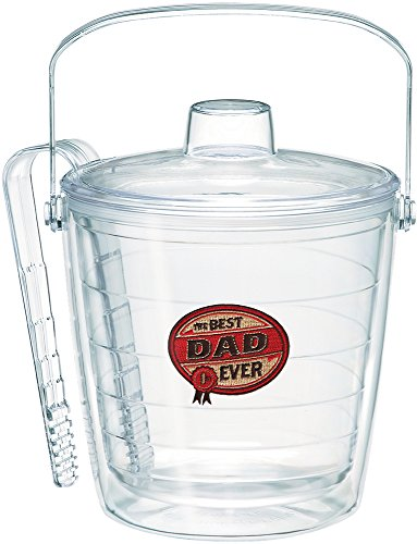 Tervis 1053556 Hallmark - Dad Ice Bucket with Emblem and Clear Lid 87oz Ice Bucket, Clear (Bucket Tervis Ice)