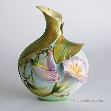 Amazon Franz Porcelain Morning Glory Narrow Neck Vase Home