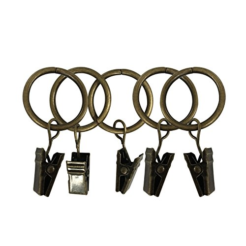 """Easy2hang Premium Drapery Clip Rings Extra Thick 2""""Bronze 30 pack from Easy2Hang"""