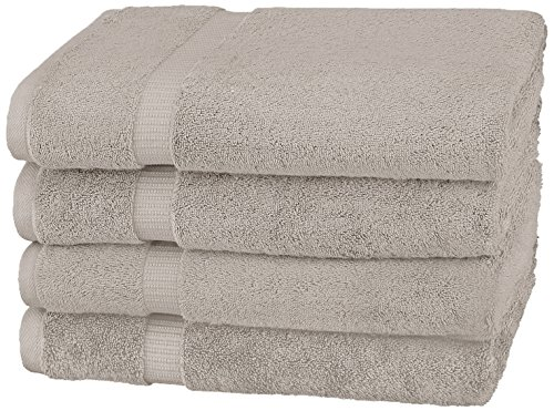 Pinzon Organic Cotton Bath Towels (4 Pack), Marble Grey