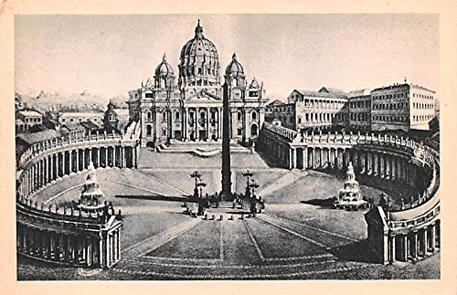 (Piazza e Basilica di S Pietro Roma Italy Postcard)