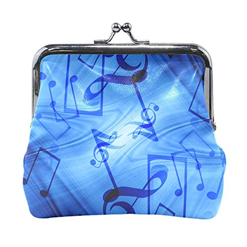 Coin Purses Music Note Kiss-lock Buckle Vintage Clutch Cosmetic Bags ()