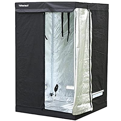 "World Pride Mylar Hydroponic Grow Tent Room Hut Reflective for Indoor Plant Growing 48""x 48""x 78''"