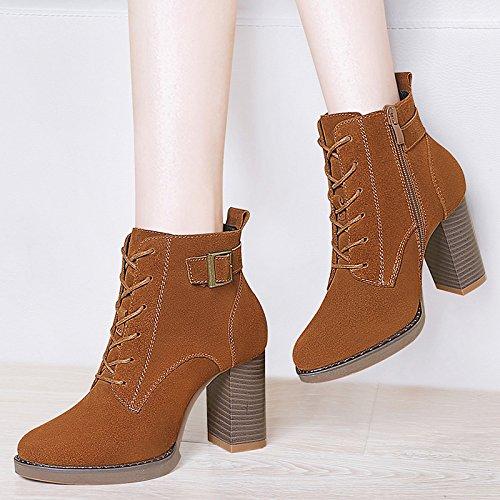 39 marr salvaje Invierno Aemember Oto irregular de verdad la botas o con Retro las Inglaterra botas el zapatos femenino cortas Martin mujeres Botas mujer xBqgdPXg