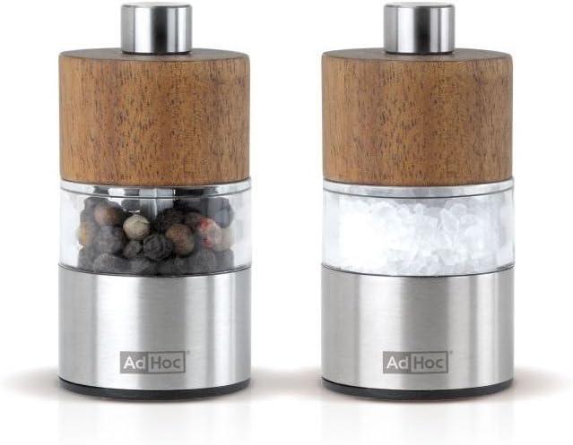 AdHoc AKASIA Moulin /à Poivre ou /à sel avec broyeur en c/éramique Bois dacacia