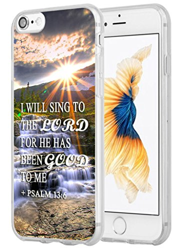 Price comparison product image Hungo Iphone 7 Case Bible Verses, Apple Iphone 7 Cover Christian Quotes Sayings Psalm 13:6