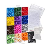 Pixel Art Bead Fuse Beads Perler Compatible (Large Kit) Colorful Bead Create 2D Pixelated Wall Art, Retro Video Games Characters, Animals, Designs, Fashion Accessories | Fuse Beads Kits with Peg Boards by EVORETRO