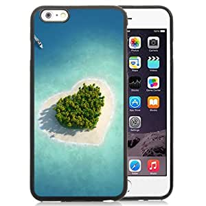 NEW Unique Custom Designed iPhone 6 Plus 5.5 Inch Phone Case With Heart Shaped Tropical Island_Black Phone Case wangjiang maoyi by lolosakes
