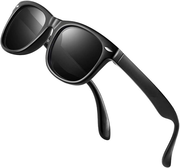 d815c772bcd Kids Sunglasses - FEIDU Polarized Sunglasses Girls Child Boys Age 3-10  FDC2149 (BLACK