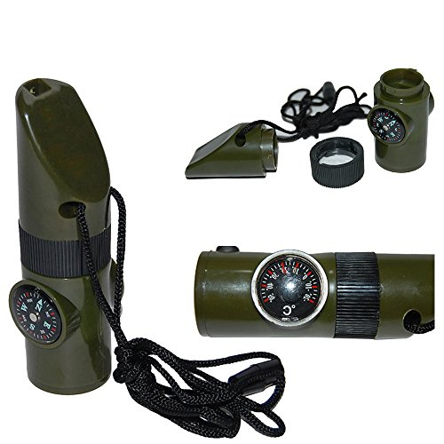 7 In 1 Survival Whistle With Led Light in US - 1