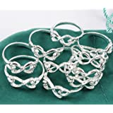 10pcsset 925 Silver Women Beauty Bowknot 8 Toe Rings Mix Size 7-9 Jewelry (7)
