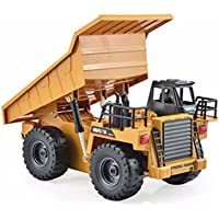 New HuiNa Toys1540 Six Channel 1/12RC Metal Dump Truck Charging RC Car By KTOY