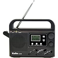 Kaito KA008 Radio with Dynamo Power and Solar Power , Digital Tuning Radio with Flashlight