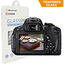 BesYee Canon EOS Rebel T7i T6i T5i 800D 700D 750D LCD Tempered Glass Screen Protector, Exuun Optical 9H Hardness 0.33mm Ultra-Thin DSLR Camera Tempered Glass for Canon T5i T6i T7i
