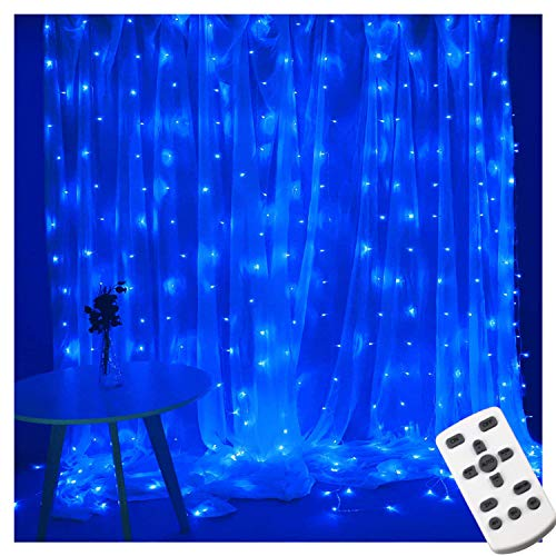 Window Curtain Icicle Lights 300 LED Curtain String Light, Lampmall Wedding Backdrop Lighting USB Powered Bedroom String…