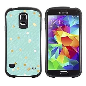"""Hypernova Slim Fit Dual Barniz Protector Caso Case Funda Para Samsung Galaxy S5 [Oro Blanco Copos de rayas diagonales""""]"""