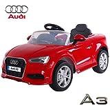 Babycar 99852r–Kinder Elektro Auto Audi A3mit Fernbedienung, 12V, rot
