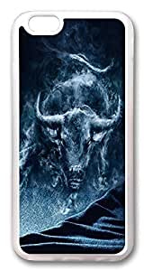 ACESR Bull Smoke Unique iPhone 5 5s Cases, pc hard Case for Apple iPhone 5 5s white