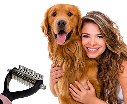 51oknS3PN6L - Machao Republique Pet Dematting Rake,Grooming Brush?Shedding Comb Tool for Dogs and Cats-Removes Loose Undercoat, Tangles, Mats and Knots