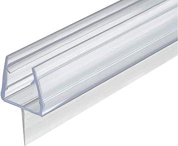 Gedotec - Junta para puerta de cristal (200 cm, para mamparas de ducha y puertas de cristal, para sellar el suelo): Amazon.es: Bricolaje y herramientas