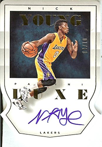 2015-16 Luxe Crown Jewels Autographs Gold #47 Nick Young Auto 4/10 Lakers