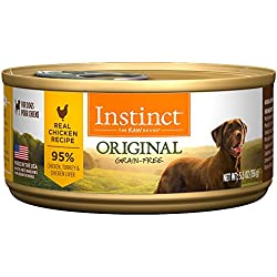 Nature's Variety Instinct Original Grain Free Real Chicken Recipe Natural Wet Canned Dog Food by, 5.5 oz. Cans (Case of 12)