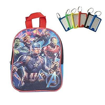"Avengers Toddler Boys Backpack Book Bag Preschool Mini 10"" + Name Tag | Kids' Backpacks"